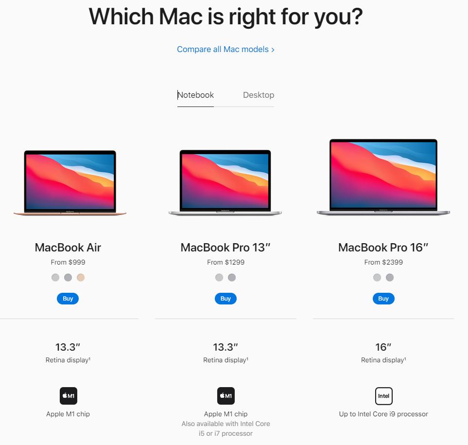 apple mac website